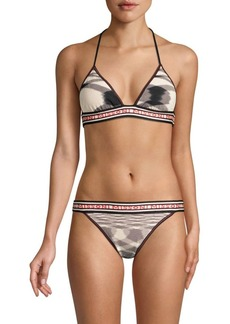 Missoni Maglieria Fiammata Triangle Logo Two-Piece Bikini Set
