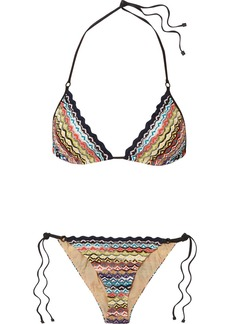 Missoni Mare Donna Crochet-knit Triangle Bikini