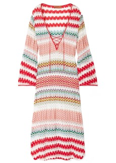 Missoni Mare Donna Lace-up Crochet-knit Kaftan