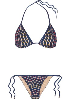 Missoni Mare Donna Metallic Crochet-knit Triangle Bikini