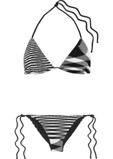 Missoni Mare Donna Striped Crochet-knit Triangle Bikini