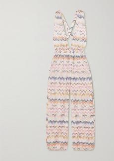 Missoni Mare Open-back Crochet-knit Jumpsuit