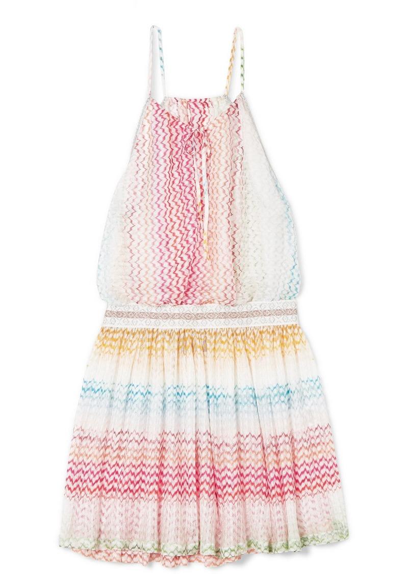 Missoni Mare Striped Crochet-knit Mini Dress