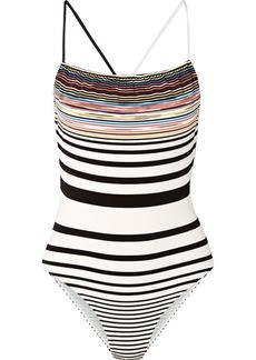 Missoni Mare Striped Crochet-knit Swimsuit