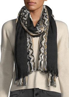 Missoni Metallic Chevron Knit Stole