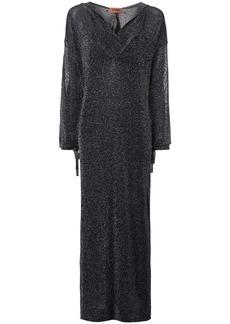 Missoni metallic-effect hooded long dress