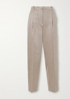 Missoni Metallic Knitted Straight-leg Pants