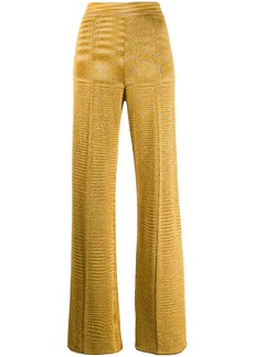 Missoni metallic knitted trousers