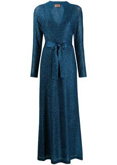 Missoni metallic long dress