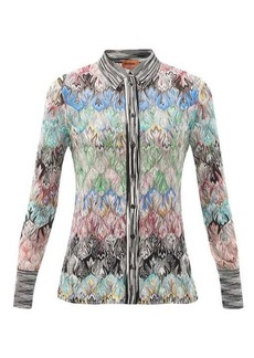 Missoni Abstract-jacquard knitted top