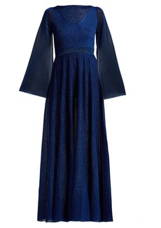Missoni Bell-sleeve pleated gown
