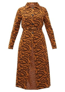 Missoni Belted tiger-jacquard coat