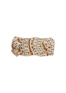 Missoni Braided metallic fine-knit headband