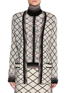 Missoni Check Jacquard Open-Front Cardigan