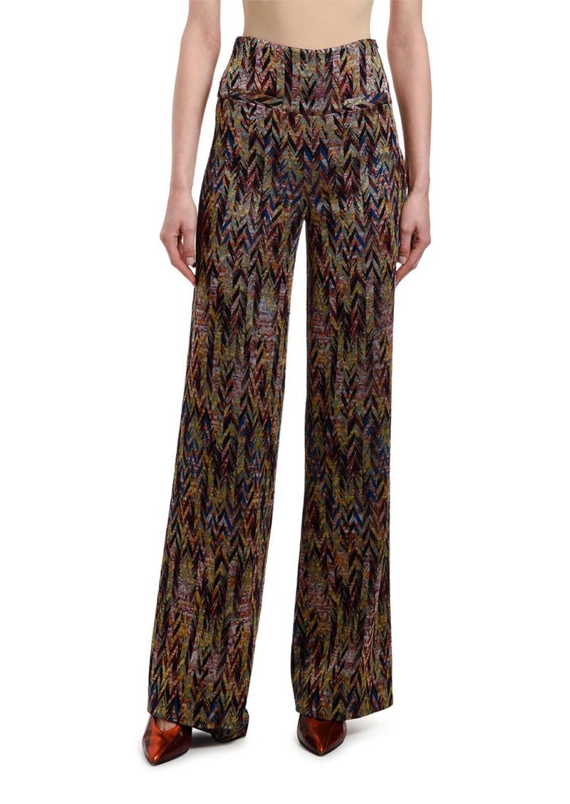 Missoni Chevron-Jacquard High-Rise Pants