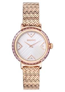 Missoni Chevron Joy Diamond Bracelet Watch, 37mm (Nordstrom Exclusive)