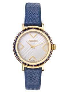 Missoni Chevron Joy Leather Strap Watch, 37mm (Nordstrom Exclusive)