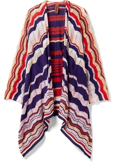 Missoni Crochet-knit cotton-blend wrap
