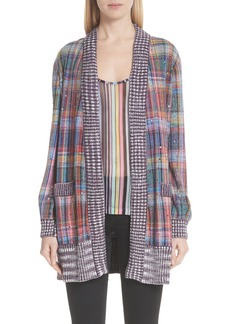 Missoni Crystal Detail Plaid Cardigan