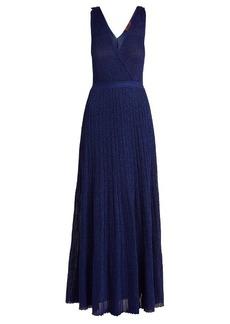 Missoni Deep V-neck ribbed-knit maxi dress