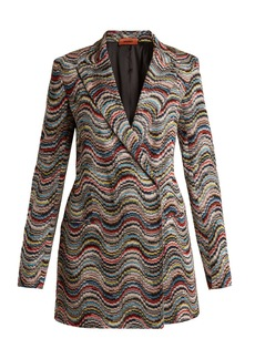 Missoni Double-breasted peak-lapel wave-pattern blazer