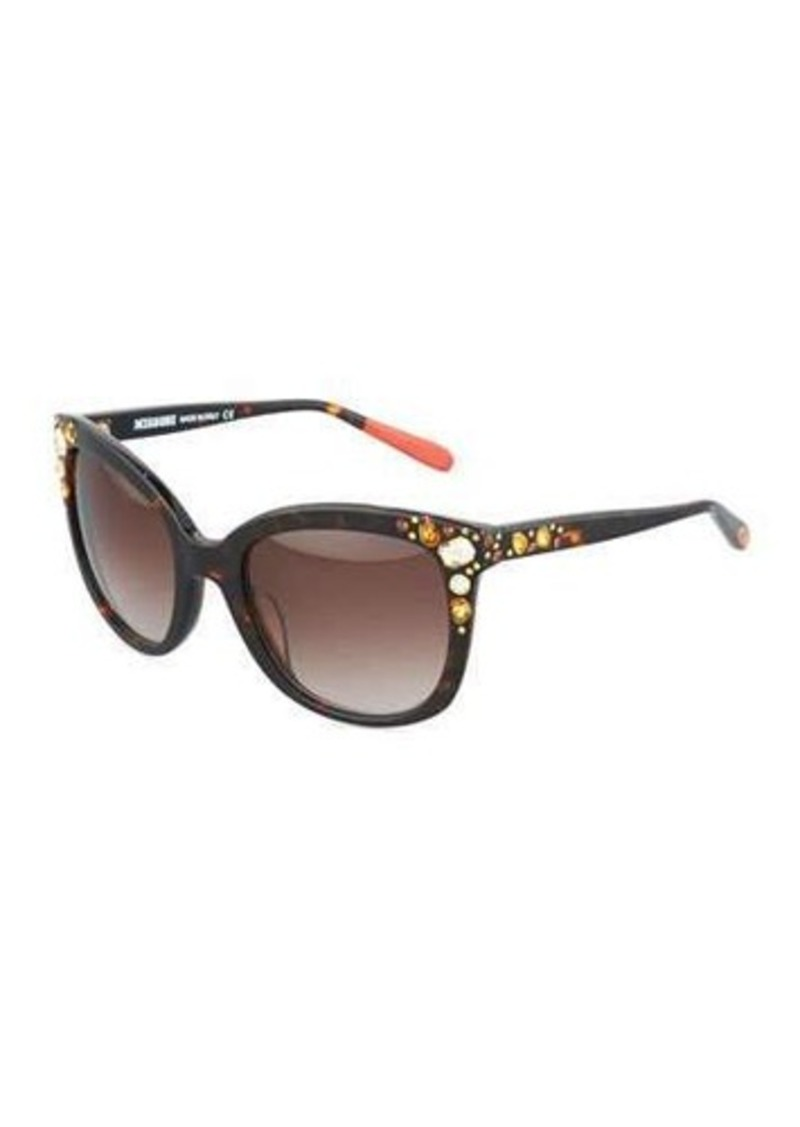 Missoni Embellished Oversized Square Plastic Sunglasses