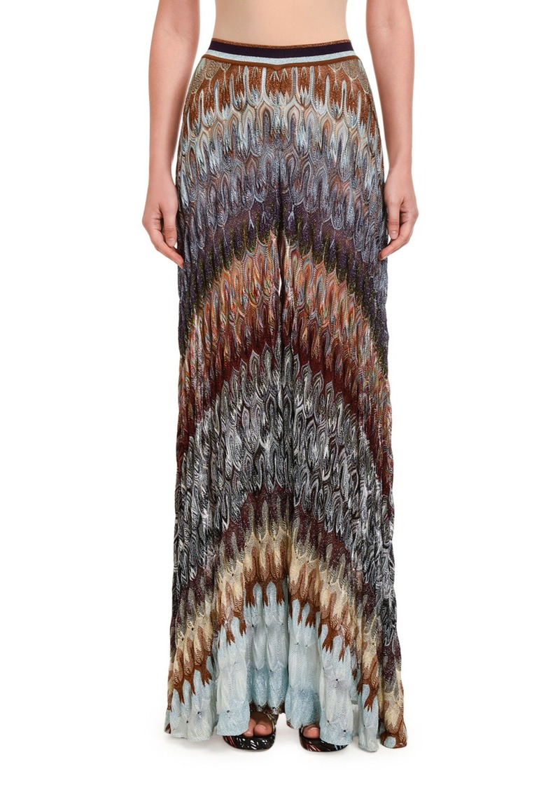 Missoni Flamed Lame Wide-Leg Pants