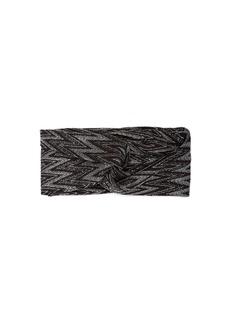 Missoni Front-twist metallic crochet-knit headband
