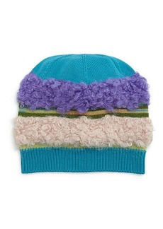 Missoni Fuzzy Striped Knit Hat