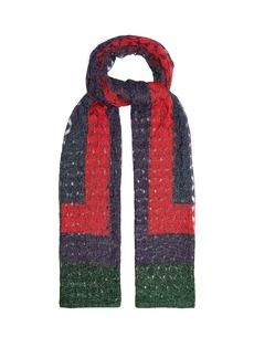 Missoni Geometric fine-knit scarf