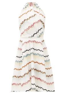 Missoni Halterneck cotton-blend midi dress