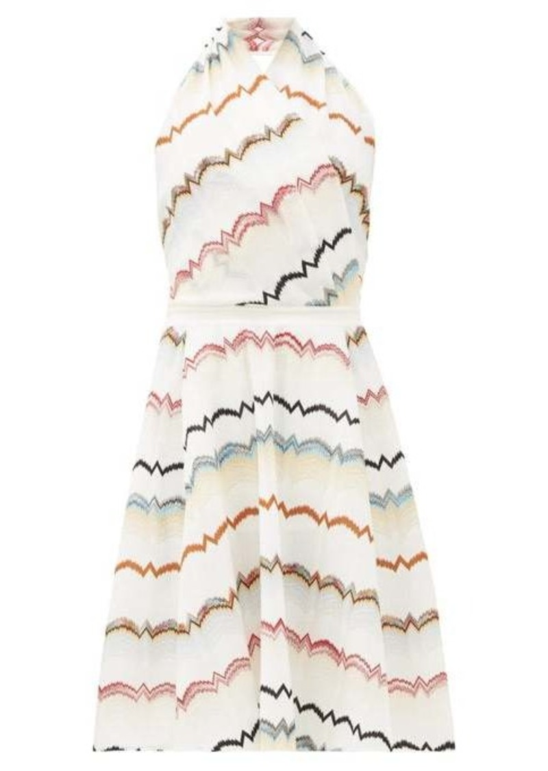 Missoni Halterneck cotton-blend midi dress