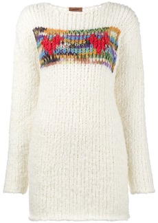 Missoni hearts hand knitted chunky jumper - White