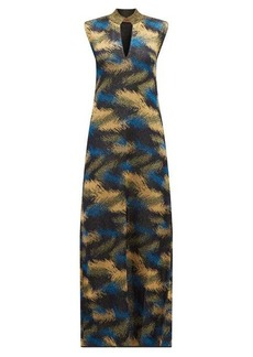 Missoni High-neck metallic jacquard-knit dress