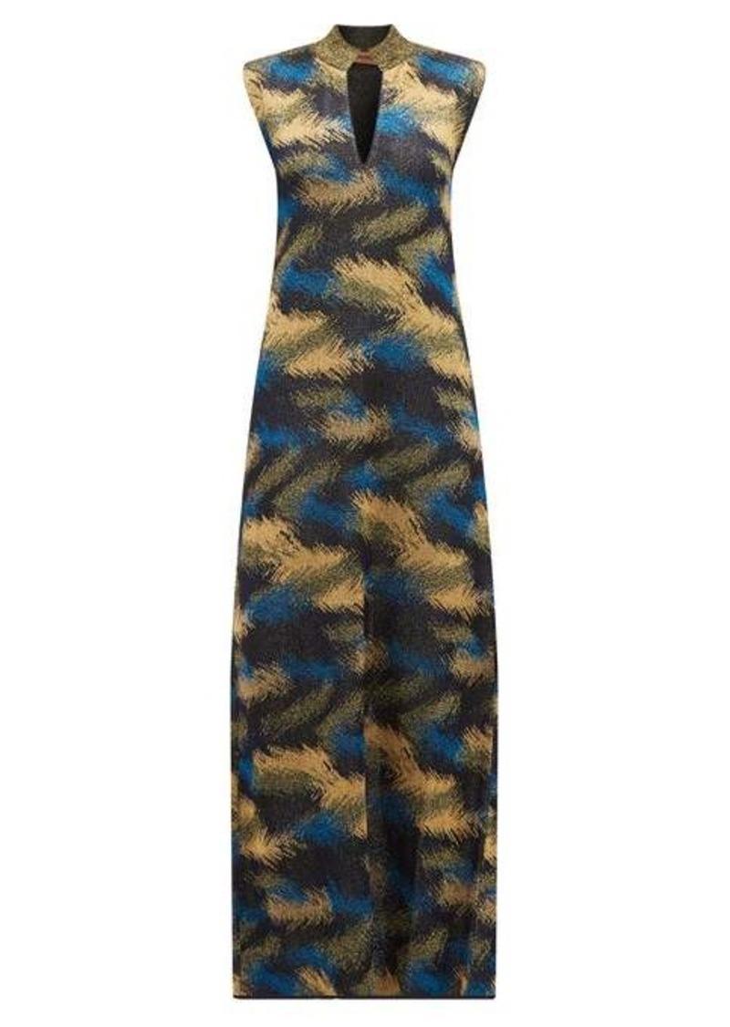 Missoni High-neck metallic jacquard-knit dress