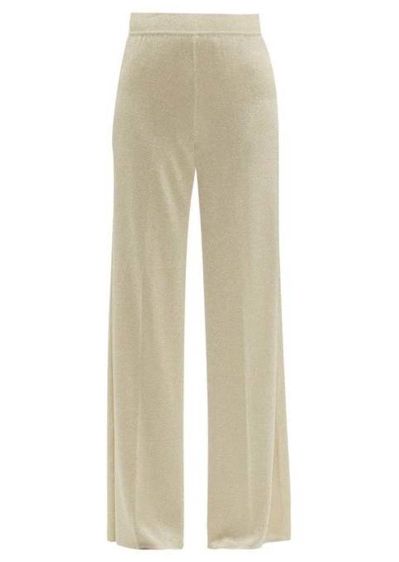 Missoni High-rise lamé wide-leg trousers