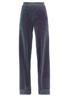 Missoni High-rise Lurex wide-leg trousers