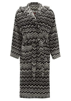 Missoni Home Keith zigzag hooded cotton-terry bathrobe