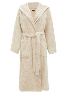 Missoni Home Rex zigzag-jacquard cotton-terry bathrobe