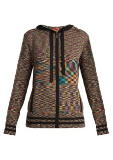 Missoni Intarsia-knit cashmere hooded cardigan