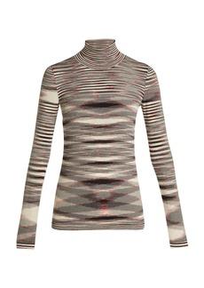 Missoni Intarsia-knit roll-neck wool sweater