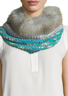 Missoni Knit Neck Warmer w/ Fur Trim