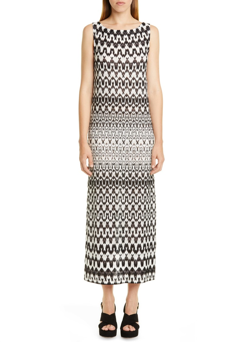 Missoni Knit Sleeveless Maxi Dress