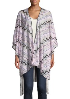 Missoni Knitted Wrap w/ Long Fringe Trim