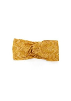 Missoni Knotted zigzag-knitted headband