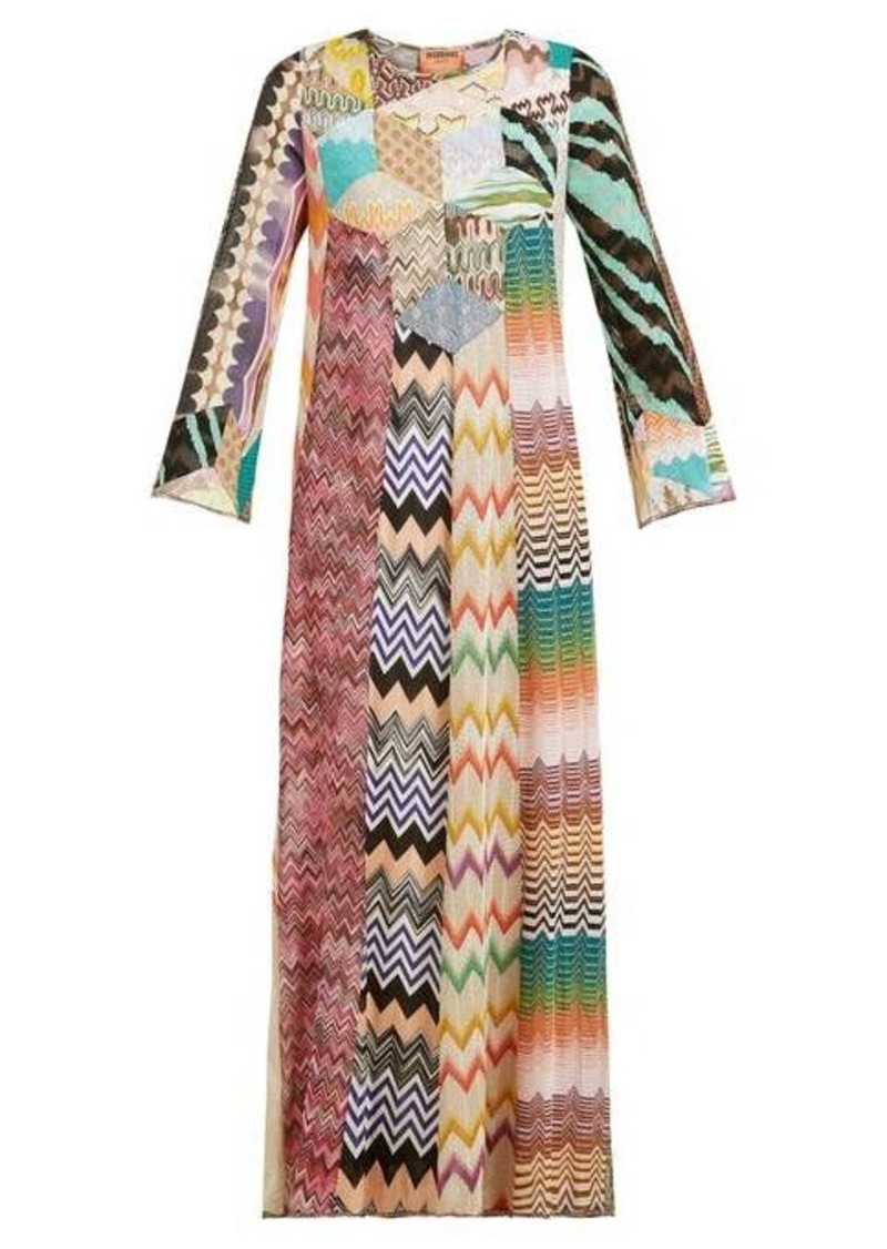 Missoni Lace and patchwork kaftan maxi dress