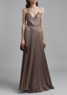 Missoni Lace-Trim V-Neck Textured Maxi Dress