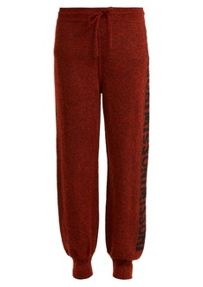 Missoni Logo-knit trousers