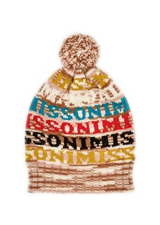 Missoni Logo knit wool beanie hat