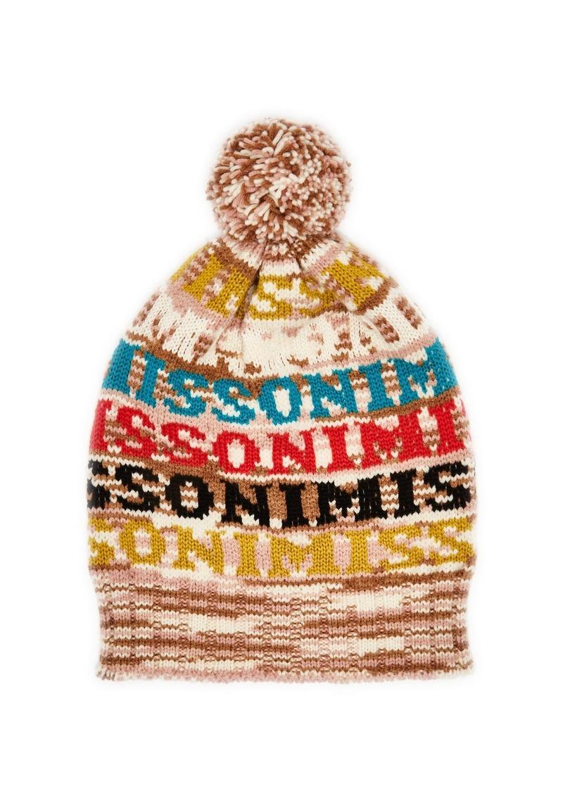 d6ca4881f17 Missoni Missoni Logo knit wool beanie hat